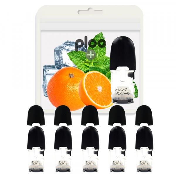 プルプラ 電子タバコ P2 フレーバーポッド 5個セット(オレンジメンソール)