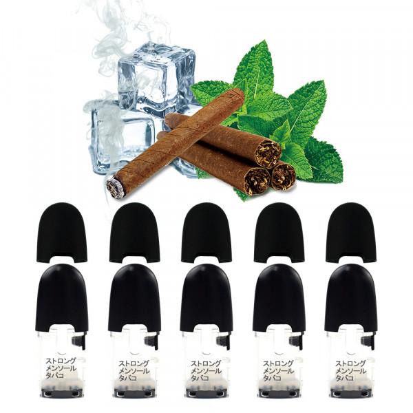 プルプラ 電子タバコ P2 フレーバーポッド 5個セット(ストロングメンソールタバコ)